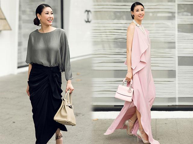 Ép cân thành công, Hoa hậu 3 con Hà Kiều Anh khoe dáng khiến chồng không thể rời mắt