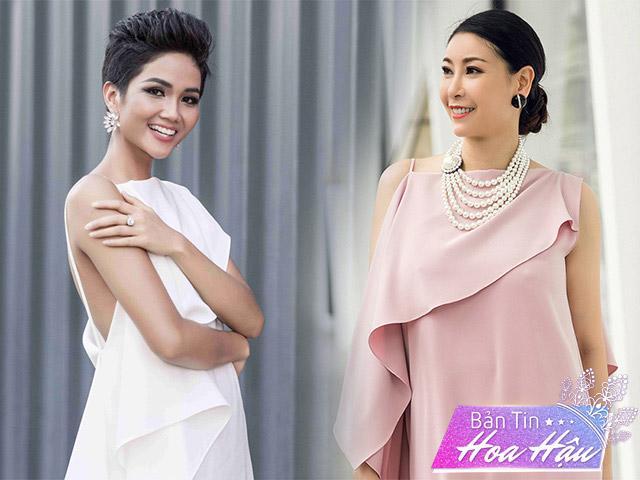 H Hen Niê và Hà Kiều Anh đẹp bất phân thắng bại với váy bất đối xứng