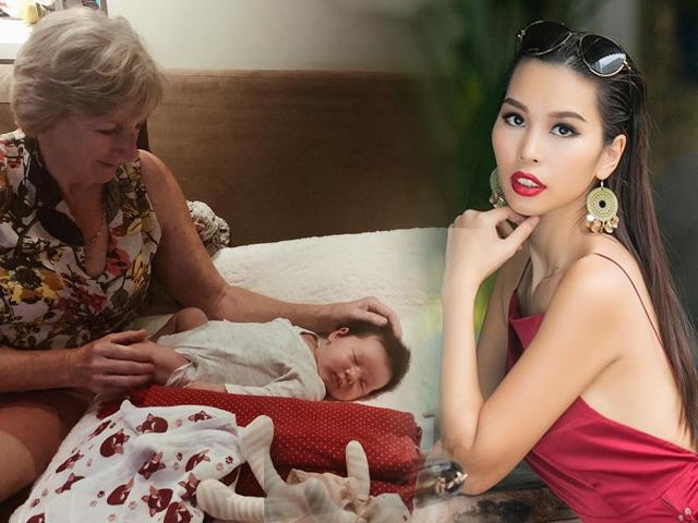 Mẹ chồng siêu mẫu Hà Anh luôn xin phép con dâu mỗi khi muốn bế cháu!