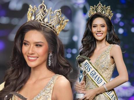 """Mỹ nhân cao 1m8 """"thi đâu thắng đó"""" đăng quang Hoa hậu Hòa bình Thái Lan 2018"""