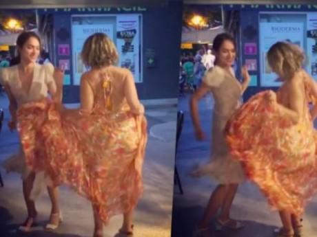 Hương Giang Idol khoe đường cong lấp ló khi nhảy múa cùng người dân Pháp mừng chiến thắng WC
