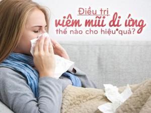 Điều trị viêm mũi dị ứng như thế nào?