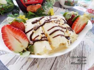 Nắng nóng, làm ngay kem cuộn mát lạnh, chuẩn ngon vài tiếng là ăn được