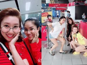 """Sao Việt 24h: Bất ngờ với hình ảnh 3 chị em """"Gạo nếp gạo tẻ"""" ở sân bay"""