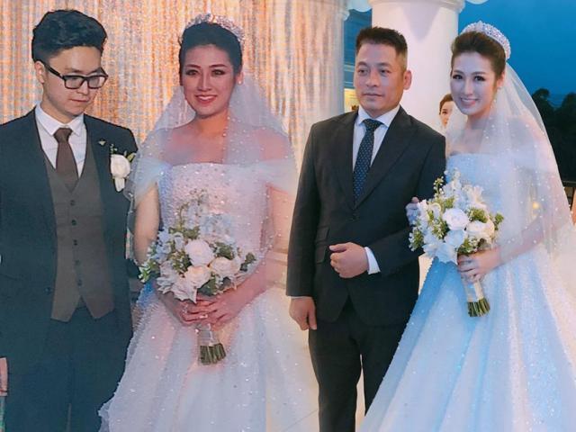 Á hậu Tú Anh lộng lẫy như công chúa sánh đôi bên chú rể điển trai trong tiệc cưới