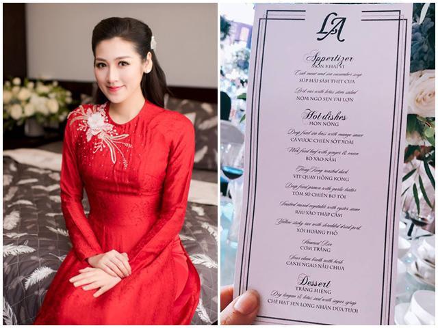 Tổ chức đám cưới sang trọng nhưng tiệc đãi khách của Á hậu Tú Anh đơn giản bất ngờ