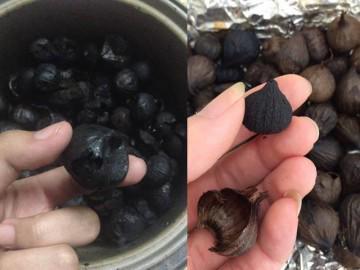 Con gái bất lực khi nhìn món tỏi đen không thể đen hơn được nữa của mẹ