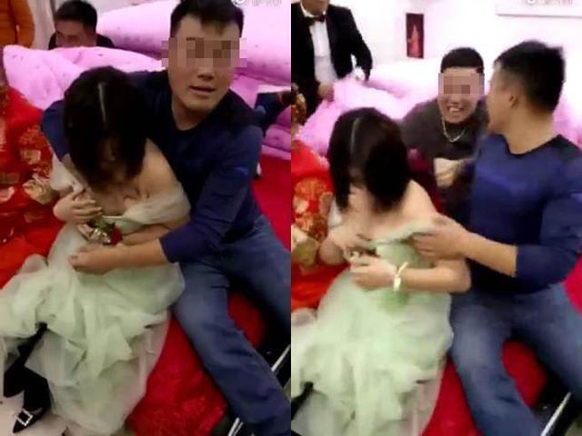 Phù dâu xinh đẹp bị khách nam sàm sỡ vòng 1 ngay tại đám cưới gây phẫn nộ