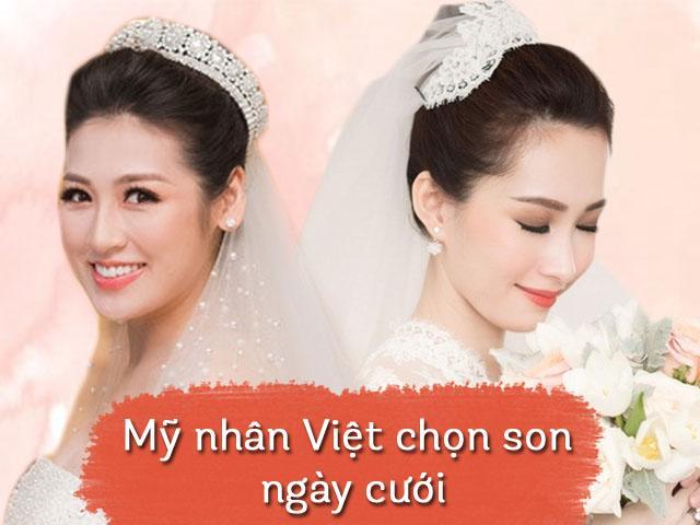 Cũng là cô dâu về nhà chồng nhưng Đặng Thu Thảo, Tú Anh ăn điểm nhờ chọn son cao tay