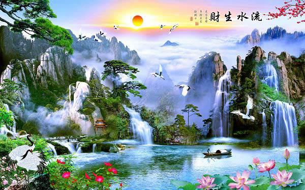 trang tri nha dep lai khong ton nhieu chi phi voi nhung mau tranh 3d phong khach song dong - 12