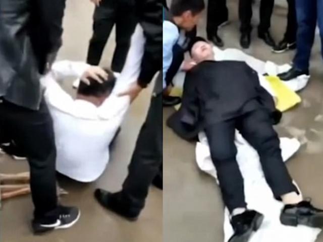 Phù rể bị khách mời tung hứng trong đám cưới, đập đầu xuống đất suýt mất mạng