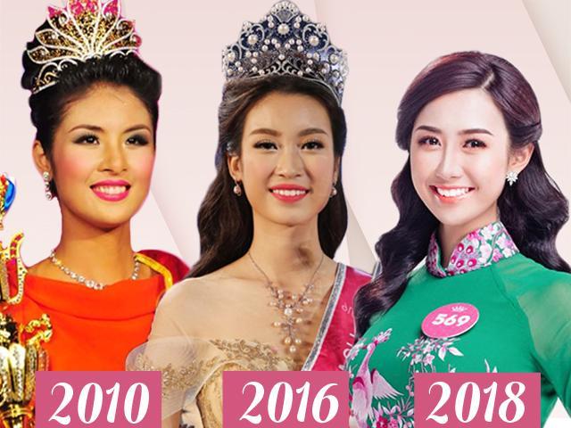 Hoa hậu Việt Nam - Quyển nhật ký xu hướng son môi phái đẹp qua các thời kỳ