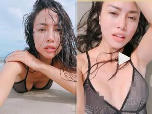 Vũ Ngọc Anh trần tình vụ mặc áo tắm mỏng tang, lộ liễu trên biển