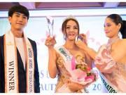 Người nổi tiếng - Hoa hậu Trái đất Thái Lan trao vương miện cho Tân Nữ hoàng sắc đẹp châu Á Vi Nhạn Ngọc