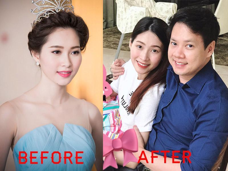 Hoa hậu Đặng Thu Thảo ăn mặc kín đáo chuẩn bà mẹ bỉm sữa.