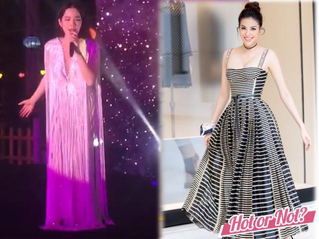 Nam Em bị ví như... rèm cửa khi chọn nhầm váy, Phạm Hương cực chảnh với váy 240k!