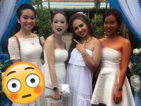 """Sự thật đằng sau hình ảnh ba cô gái trang điểm như """"xác sống"""" đi ăn đám cưới bạn thân"""