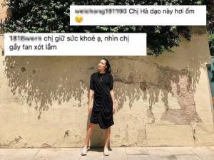Fan xót xa khi thấy Tăng Thanh Hà dù mặt tươi vui nhưng dáng vóc gầy gò, mỏng manh