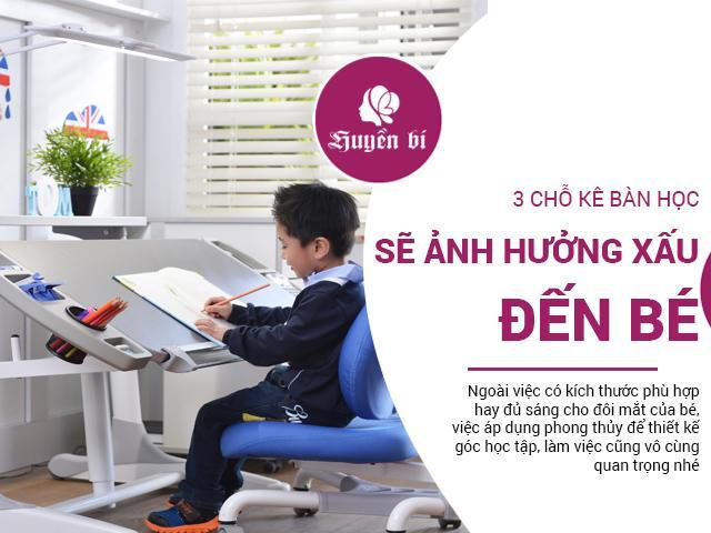 3 vị trí cấm kỵ đặt bàn học cho trẻ khiến bé học mãi không khá lên được