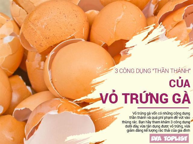 Đừng vứt vỏ trứng gà vào sọt rác nếu bạn biết rõ những công dụng có một không hai này