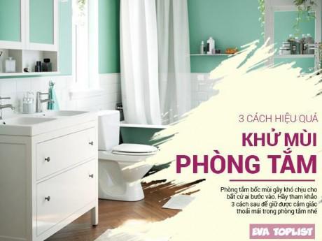 3 cách cực đơn giản đánh bay mùi khó chịu trong phòng tắm
