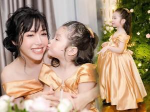 Cadie Mộc Trà hóa công chúa nhỏ bên mẹ Elly Trần mừng sinh nhật tròn 4 tuổi