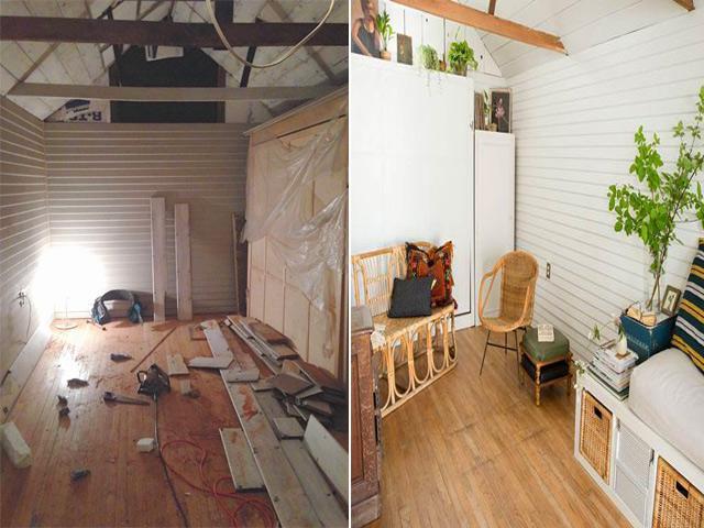 Chỉ chi 45 triệu đồng sửa nhà cũ, cặp vợ chồng trẻ có ngay căn nhà 18m² đẹp như mơ