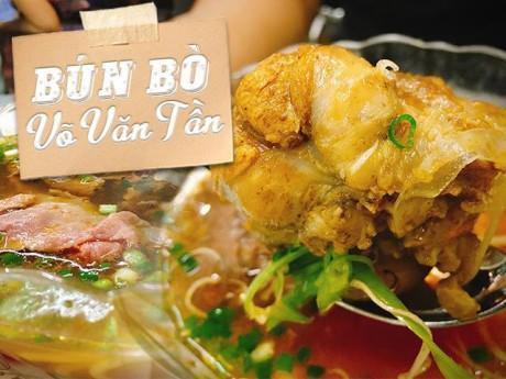"""Hàng bún bò có giò heo khổng lồ, thuộc """"Tứ đại lâu đời quán"""" trên đường Võ Văn Tần"""