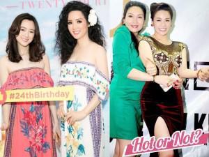 Giáng My như chị em với con gái khi mặc đồ đôi, Nhật Kim Anh bị chê già, sến