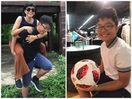 """Ngỡ ngàng hình ảnh lớn bổng nhanh vụt của con trai MC Thảo Vân, đã là """"thanh niên"""" cao to!"""