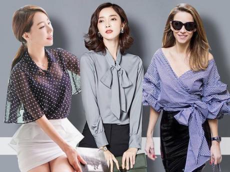 """4 mẫu áo sơ mi """"chiều lòng"""" được mọi nàng công sở từ kín đáo đến gợi cảm"""