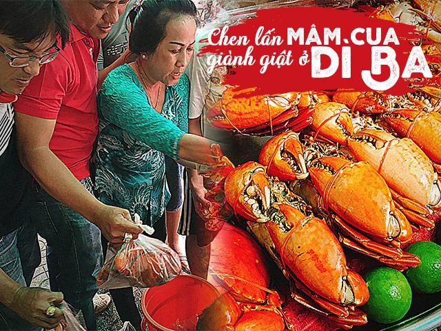 Choáng váng cảnh chen lấn giành giật mua mâm cua dì Ba ở Sài Gòn, 10 phút bán 30kg