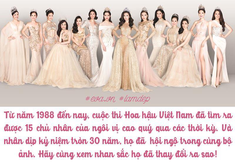 Ngoài Hoa hậu Phan Thu Ngân bận công việc, 14 hoa hậu đều góp mặt trong bộ ảnh.