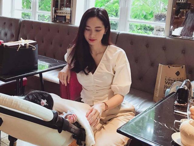 Sau 5 tháng sinh con, Hoa hậu Đặng Thu Thảo chia sẻ: Được làm mẹ là điều tuyệt vời nhất