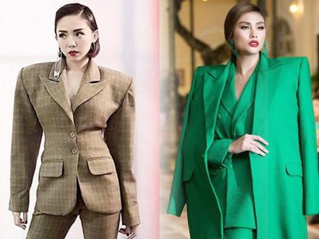 Từ thảm hoạ thời trang, áo vest vai ngang nay lại trở thành xu hướng thời trang mới