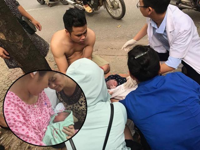 Bố 9x huy động e-kip chị bán mía, anh taxi, dàn ninja đường phố đỡ đẻ giữa đường Hà Nội