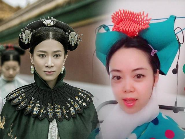 Chết cười khi fans Diên hy công lược chế mũ Hoàng hậu, phi tần bằng dép, áo lót