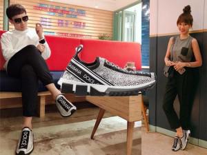 Dù mỗi người một nơi, nhưng vợ chồng Trấn Thành Hari Won vẫn âm thầm diện giày đôi