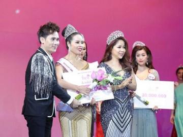 Nữ doanh nhân xứ Thanh đăng quang Á hậu 1 cuộc thi Hoa hậu tại Singapore
