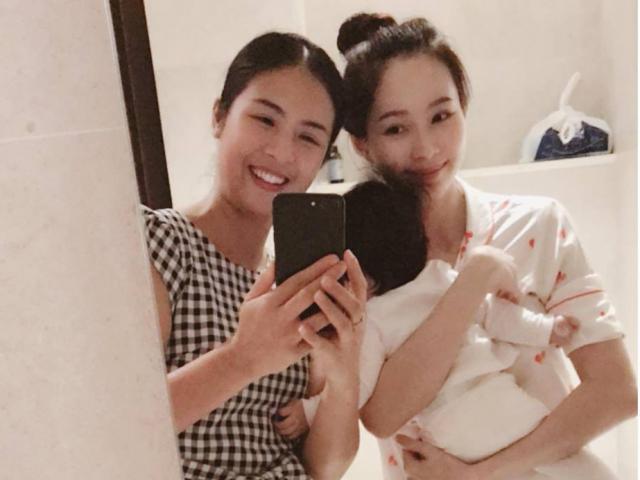 Hoa hậu Đặng Thu Thảo bị bạn thân Ngọc Hân cho hiện nguyên hình bà mẹ bỉm sữa