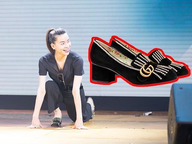 Chị em choáng váng vì Hồ Ngọc Hà đi tập Yoga mà vẫn mang giày cao gót