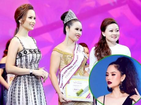 Á hậu Thùy Giang rạng rỡ trao vương miện cho Hoa hậu Áo dài