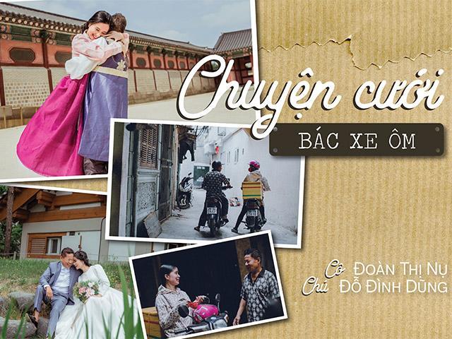 Lấy 30 năm chưa từng mặc váy cưới, chú xe ôm dốc cạn tiền đưa vợ sang Hàn chụp ảnh