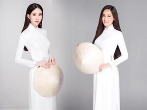 Bà mẹ bỉm sữa Đặng Thu Thảo diện áo dài trắng đọ eo thon cùng các Hoa hậu chưa chồng