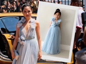 Mẹ Việt may váy cho con gái theo phim được báo Tây lẫn diễn viên chính hết lời ca ngợi