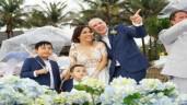 """Đám cưới đẹp như mơ ở biển của """"gái 2 con"""" Lý Thanh Thảo và chồng Tây"""