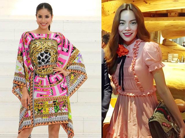 Giá lên đến vài chục triệu nhưng váy của Hà Hồ, Phạm Hương vẫn bị ví như...hàng chợ