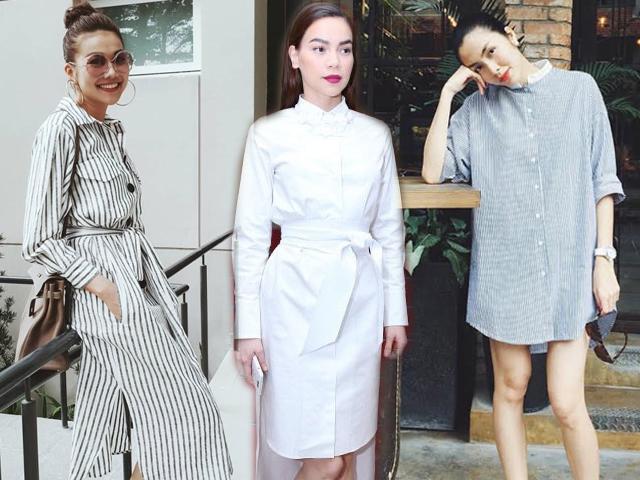 Học ngay 5 kiểu váy sơ mi cực đẹp của sao Việt, cứ mặc là chắc chắn được khen!