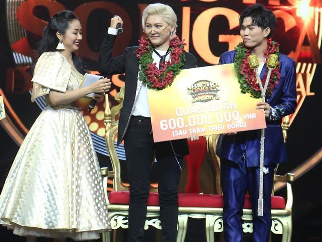 Vicky Nhung và chàng sinh viên ẵm 600 triệu đồng vì giành ngôi Quán quân show truyền hình