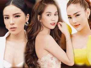 Tìm điểm khác nhau giữa lối trang điểm ngày thường và đi tiệc của Phạm Hương, Hà Hồ, Ngọc Trinh